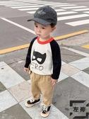 嬰兒拼接針織衫毛衣兒童裝寶寶男女童韓版小童【左岸男裝】