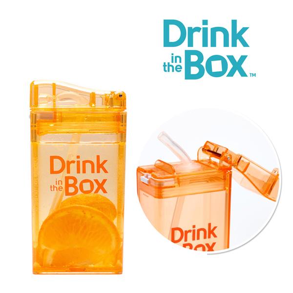 Drink in the box 加拿大 兒童戶外方形吸管水杯 / 水壺 235ml -水果橘