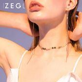 ZENGLIU脖子飾品項練鎖骨練短款簡約頸脖練歐美choker項圈女頸帶