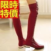 過膝馬靴-迷人潮流皮革女長靴62l36【巴黎精品】