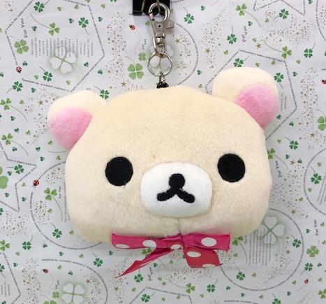 【震撼精品百貨】Rilakkuma San-X 拉拉熊懶懶熊~伸縮票夾~點點妹#72100