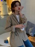 西裝 夏裝韓版寬鬆百搭顯瘦小西裝外套女網紅ins休閒中長款西服上衣潮 韓菲兒