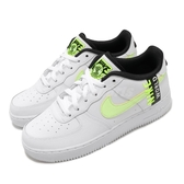 Nike 休閒鞋 Air Force 1 LV8 1 GS Worldwide 白 綠 女鞋 大童鞋 刺繡設計 運動鞋【ACS】 CN8536-100
