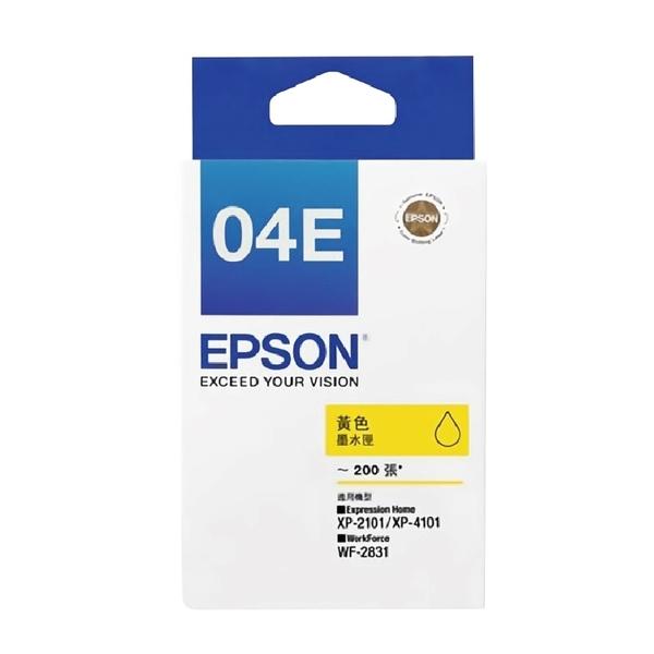 EPSON T04E 04E T04E450 黃色 原廠墨水匣 盒裝 適用XP-2101 4101 WF-2831