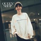 Queen Shop【01038207】休閒字母印花內刷毛長袖大學T*現+預*
