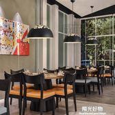 吊燈簡約現代餐桌創意個性三頭飯廳辦公室日式北歐宜家餐廳具 igo陽光好物