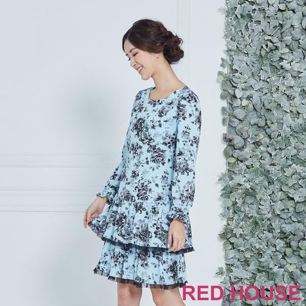 【RED HOUSE 蕾赫斯】花布蛋糕洋裝(共兩色)
