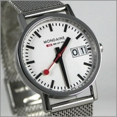 【萬年鐘錶】MONDAINE 瑞士國鐵鋼錶 XM-669311SM