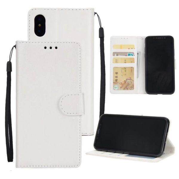 蘋果 6/6s Plus 經典純色手機套 蘋果 X 插卡翻蓋保護套 蘋果 7/8 個性相框全包防水手機殼