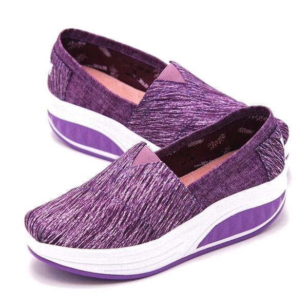 【W&M】BOUNCE飛線厚底增高休閒鞋 女鞋-紫(另有黑、藍)
