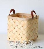 日式木片編織收納籃創意藤編野餐籃面包籃子桌面零食水果儲物筐子YYP  蓓娜衣都