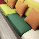 定制新品定做沙發笠套綠色麻料防塵罩防滑布藝沙發坐墊套子沙發巾    提拉米蘇
