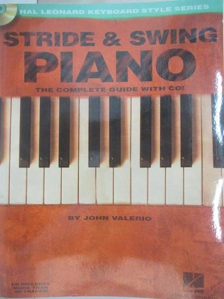 【書寶二手書T2/音樂_DW6】STRIDE & SWING爵士鋼琴教學譜附線上音頻網址