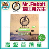 寵物FUN城市│加拿大Mr.Rabbit瑞比兔先生 高級苜蓿草 36oz(1kg)  RB008 兔子飼料 牧草