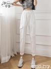 工裝褲速干褲女年夏季新款韓版百搭顯瘦哈倫休閒褲運動褲高腰寬鬆工裝褲 衣間