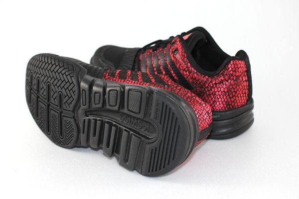 K-Swiss X Court 全方位運動鞋-女-黑/酒紅