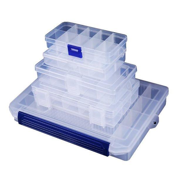 10格整理盒【SG439】透明儲存盒塑料收納箱收納盒首飾盒工具盒收納10格整理盒