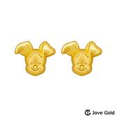 Disney迪士尼系列金飾 維尼系列-小豬黃金耳環