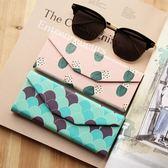 太陽眼鏡盒 近視鏡盒 三角型便攜折疊 粉色藍色 生日禮物 創意