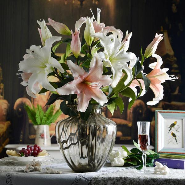 模擬花假花 套裝 花藝 客廳餐桌 裝飾花 花瓶花束 -bri0206100167