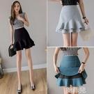 窄裙 短裙女新款春夏外穿高腰a字裙黑色打底包臀魚尾裙半身裙子 韓菲兒