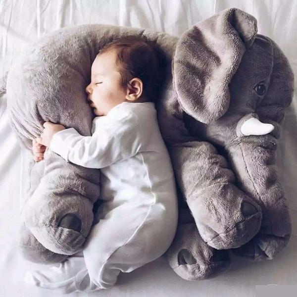 大象抱枕 IKEA 同款 彩色 安撫枕 靠枕 嬰兒 寵物 安撫 抱枕 絨毛娃娃【RS520】