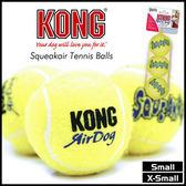 *KING WANG*【02151221】AST3-美國KONG《小顆黃網球》寵物啾啾叫玩具-S號-三顆一組