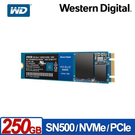 全新 WD 藍標 SN500 250GB NVMe PCIe SSD固態硬碟
