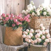 仿真玫瑰花束 客廳裝飾花假花仿真花單支插花高品質  糖糖日系森女屋