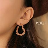 限量現貨◆PUFII-耳環 不規則愛心輪廓耳環-1027 現+預 秋【CP19354】