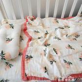 紗布毯四層新生兒包巾包被嬰兒 夏季嬰兒被子竹纖維寶寶抱被   麥琪精品屋