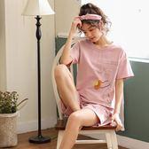 【預購款】居家服夏季新款睡衣套裝女短袖短褲甜美兩件套可外穿913#【時尚潮流部落】