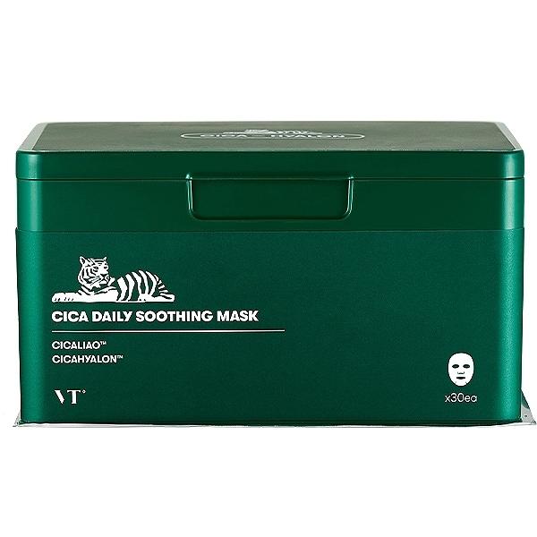 韓國 VT CICA老虎積雪草抽取式舒緩面膜(30片入) 【小三美日】每日面膜 綠寶盒