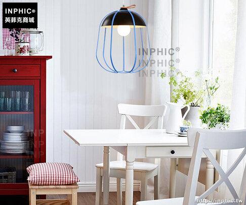 INPHIC- 現代簡約風格北歐餐廳奶茶店火鍋店單頭鳥籠網狀兒童房吊燈_S197C