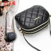 收銀包女側背包單肩斜挎做生意收錢的包包女斜跨新款多層大容量側背包  一次元