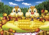 【拼圖總動員 PUZZLE STORY】Disney-午餐時間 日系/Tenyo/迪士尼/奇奇蒂蒂/108P