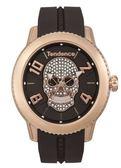 Tendence天勢表-圓弧系列晶鑽骷髏腕錶(手錶 男錶 女錶 Watch)-總代理原廠公司貨-原廠保固兩年