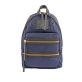 【MARC  JACOBS】Biker尼龍帆布三層拉鍊背包(小)(深藍色) M0012702 415