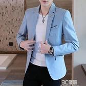 西裝外套 男士休閒迷彩小西裝2020春季新款韓版修身上衣外套潮流春秋單西服 3C優購