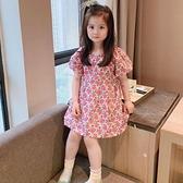 女童泡泡袖韓版連衣裙