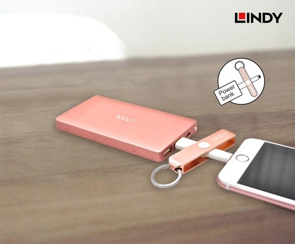 ◤大洋國際電子◢ LINDY 林帝 APPLE LIGHTNING 轉USB充電傳輸鑰匙圈 不挑色 31396/31397/31398