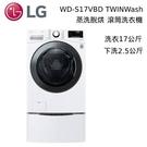 【結帳再折+分期0利率】LG WD-S17VBD+WT-D250HW TWINWash 17+2.5公斤 蒸洗脫烘滾筒洗衣機 台灣公司貨