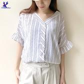 【春夏新品】American Bluedeer - 雅致條紋上衣  春夏新款