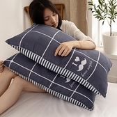 一對裝枕頭枕芯家用單人雙人護頸椎學生宿舍簡約整頭睡覺專用男 酷男精品館