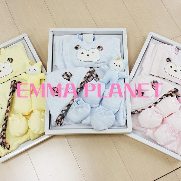 GMP BABY 冠王子小熊兩用兔裝+帽+手套+腳套+布偶禮盒 藍/粉