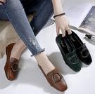 大尺碼女鞋34~43 歐美百搭時尚方頭圓...