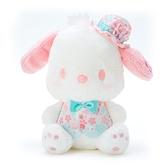 小禮堂 帕恰狗 沙包絨毛玩偶 沙包娃娃 櫻花玩偶 小型玩偶 布偶 (綠 大和櫻花) 4550337-34908