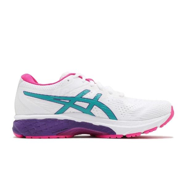 Asics 慢跑鞋 GT-2000 8 白 粉 女鞋 透氣穩定 運動鞋【ACS】 1012A591102