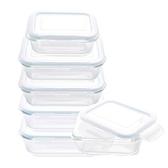 HOLA多用途耐熱玻璃保鮮盒六件組(500mlx2/800mlx2/1100mlx2)