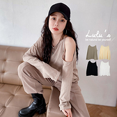 LULUS【A01210637】M單露肩寬鬆上衣4色